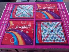 Scrabble Fabric Panel Board Game Night Hasbro for Quilting Treasures 35 x 42