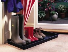 Garland Black Plastic Boot Tray Sturdy Wellington Welly & Shoe Storage