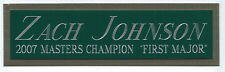 ZACH JOHNSON 2007 MASTERS NAMEPLATE AUTOGRAPHED FOR PGA GOLF CLUB-BAG-PHOTO-FLAG