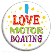 Brainbox Candy 'I Love Motor Boating' badge funny novelty cheap gift hen stag do