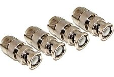 4 pack UHF female SO239 jack to BNC male coax coaxial cable converter adapters