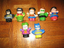 FISHER PRICE LITTLE PEOPLE DC SUPER FRIENDS 7 PACK SUPERMAN BATMAN JOKER ROBIN