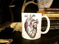 ANATOMY HEART COFFEE MUG!! oddities medical vtg antique collectable love occult