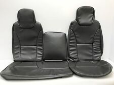 2007-2016 ISUZU NPR,NQR,GMC W-SERIES SEAT COVER FULL FRONT SET-VINYL-DARK GRAY