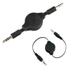 New 3.5mm Male to Male Stereo Jack Audio Aux Auxiliary Cable Retractable Cord