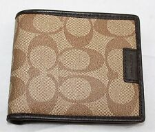 AUTH $158 COACH Heritage Logo Coin Wallet F74741
