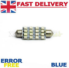 1x 42-44mm BLUE 16 SMD LED Festoon interni LAMPADINA VW Transporter T4 T5