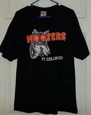 USED MENS HOOTERS T SHIRT FT. COLLINS CO - ADULT LARGE