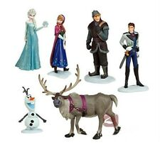 6pcs Disney Movie Frozen Figures Cake Topper Toys Anna Elsa Hans Sven Kristoff