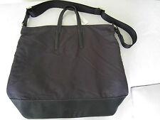 "Paul Smith Mens ""OTTO"" Black Dip Dye Leather + Nylon Tote Bag"