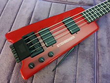 Rare Vintage Factory Red Steinberger XL2 Bass - Restored & Set-up by Jeff Babicz