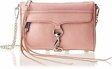 Rebecca Minkoff  Pink Leather 'Mini Mac' Convertible Shoulder Clutch, PrimRose