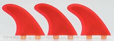 FCS G5 Honeycomb Innegra Red Surfboard Thruster Fin Skeg Shortboard Funboard