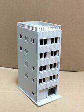Outland Models Railway Modern 5-Story Apartment with Garage Unpainted N Scale