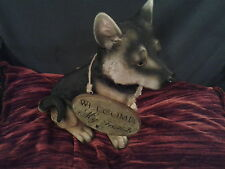 Garden Style hand crafted welcome dog