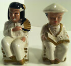 VINTAGE EMPRESS ASIAN/ORIENTAL MAN AND WOMAN SALT & PEPPER SHAKERS MADE IN JAPAN