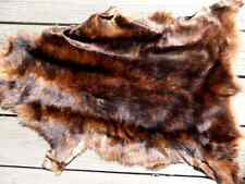 Italian sheepskin leather hide 'Red Wolf' Toscana long thick silky haired