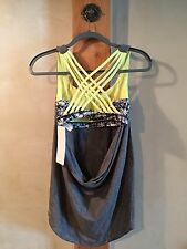 NWT Lululemon Wild Tank Top Size 8 Heathered Slate & Yellow SOLD OUT