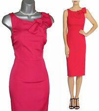Coast superbe rose chaud darcia-mai bow shift dress sz-10 EU-38 £ 139
