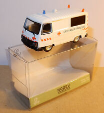 MICRO NOREV HO 1/87 PEUGEOT J9 AMBULANCE CROIX ROUGE FRANCAISE RED CROSS IN BOX