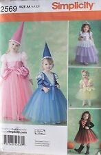 PRINCESS & WITCH COSTUME Simplicity Pattern 2569 NEW Size Toddler 1/2-3