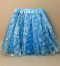 Blue Turquoise Glitter Tutu Fancy Dress Skirt Childrens Childs Party Dance