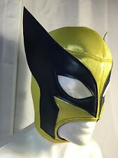 WOLVERINE!!WRESTLING-LUCHADOR MASK!!Great  Rare Design!!! Navy Blue!! AWESOME!!