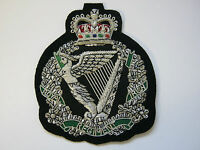 Royal Irish Regiment Wire Embroidered Bullion Blazer Badge - British Army