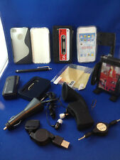 Iphone 4 & 4s huge bundle covers stylus adapters car chargers date sync cable