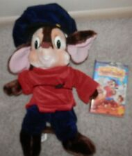 """FIEVEL plush Mouse 22"""" An American Tail Stuffed Toy 7 vhs movie vintage toy"""
