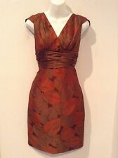 KAY UNGER New York Womens Autumn Leaves Cocktail Dress Sz 6
