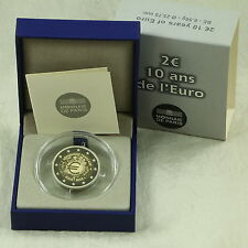 2 EURO MÜNZE COIN FRANKREICH FRANCE 10 J. BARGELD CASH 2012 PP PROOF BE