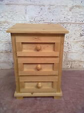 FURNITURE WAREHOUSE CLEARANCE VIENNA 3 DRAWER BEDSIDE CABINET