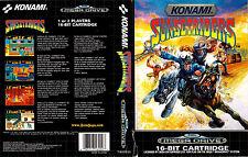 Sunsetriders Sega Mega Drive PAL Caja De sustitución Cubierta Estuche de inserción de arte Reproduct