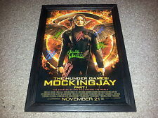 "THE HUNGER GAMES 3: MOCKINGJAY PART1 CASTX7 PP SIGNED & FRAMED 12""X8"" A4 POSTER"