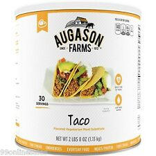 Augason Farm Vegetarian Taco Meat Substitute Emergency Survival Camping RV Food