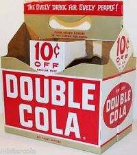Vintage soda pop bottle carton DOUBLE COLA 10 cents off unused new old stock