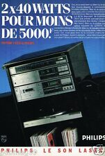 Publicité advertising 1984 Chaine Hi-Fi Philips
