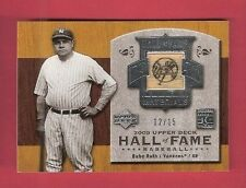 BABE RUTH GAME USED BAT CARD #d12/15 2005 UPPER DECK HALL OF FAME NY YANKEES