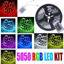 5M 5050 SMD RGB 300 LED Strip Light Power Supply 24 Key IR Remote Controller Kit