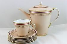 FAB ART DECO SERVING SET AYNSLEY ENGLAND B4296 COFFEE POT & 6 SMALL CUPS SAUCERS