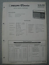 Philips 12 RL183 Kofferradio Nanette Service Manual, Ausgabe 03/68