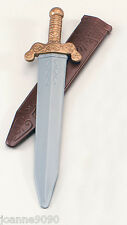 NEW ROMAN SOLDIER PLASTIC TOY SWORD WITH SCABBARD FANCY DRESS COSTUME ACCESSORY