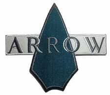 "DC's Green Arrow Logo Name 4 1/4 "" Wide Embroidered Iron On Patch"