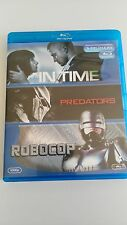IN TIME + PREDATORS + ROBOCOP 3 BLU-RAY CASTELLANO E INGLES COMO NUEVO!!!
