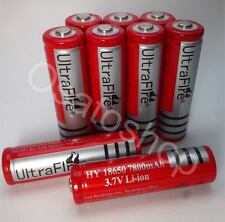 8x 7800mAh Akku Ultra Fire Li-ion Accu 3,7 V Batterie 18650 / 65x18 mm SWAT PCB