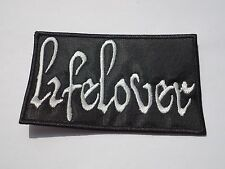 LIFELOVER BLACK METAL EMBROIDERED PATCH
