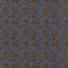 ALICES SCRAPBAG~BY 1/2 YD~MODA FABRIC~8315-20~CIVIL WAR~PAISLEY FLORAL ON BLUE
