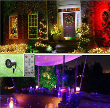 Outdoor Waterproof Christmas Lights Elf Laser Projector Red Green+remote control