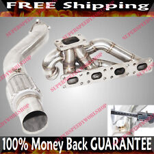 "SS Turbo Manifold Header w/3"" Downpipe for 92-96 BMW E26 M42 318i 318is 318ti"